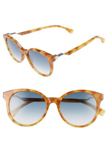 Women's Fendi 52Mm Gradient Lens Sunglasses -
