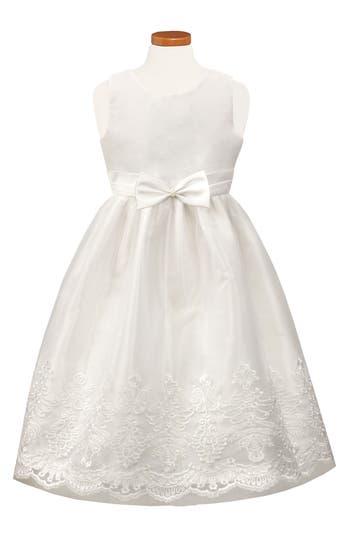 Girl's Sorbet Embroidered Tulle Dress