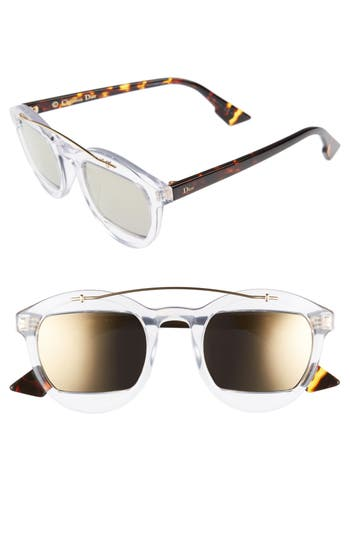 Women's Dior Mania 50Mm Sunglasses - Crystal Havana