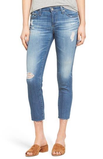 Women's Ag 'The Stilt' Destroyed Crop Skinny Jeans