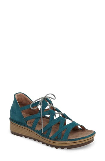 Women's Naot Yarrow Sandal, Size 5US / 36EU - Blue/green