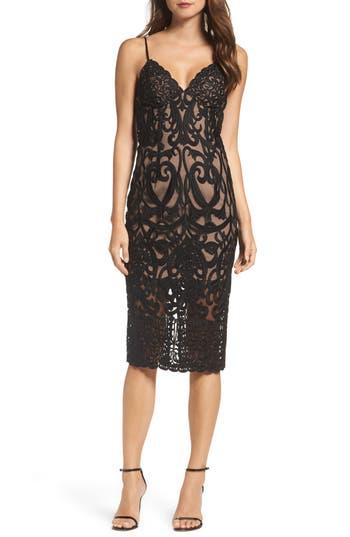 Women's Bardot Gia Lace Pencil Dress, Size X-Small - Black