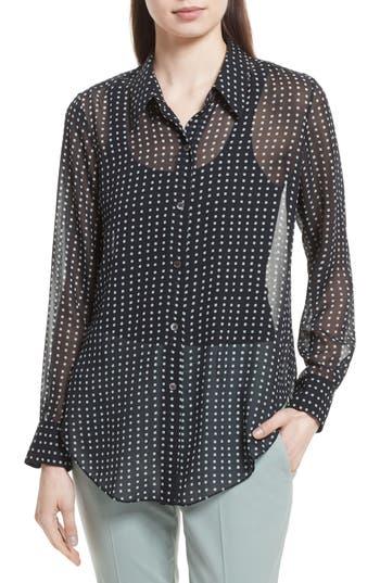 Women's Theory Sunaya Square Silk Chiffon Shirt