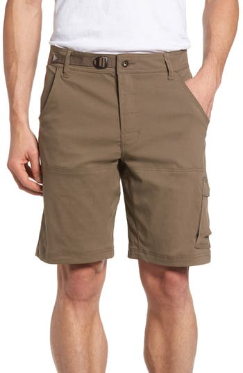 Prana Zion Water Repellent Hiking Shorts, Brown
