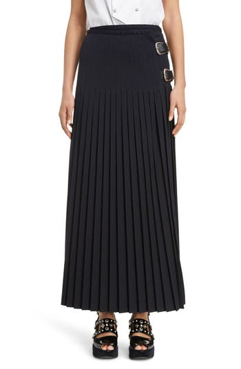 Women's Toga Pleated Wool Blend Skirt