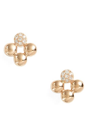 Women's Dana Rebecca Designs Poppy Rae Clover Diamond Stud Earrings