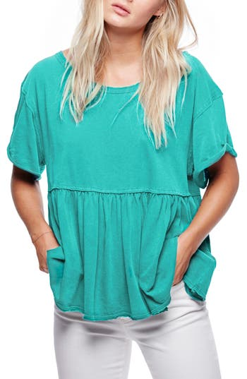 Women's Free People Odyssey Tee, Size X-Small - Green