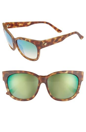 Women's Electric 'Danger Cat' 58Mm Cat Eye Sunglasses - Pineapple Tortoise/ Green