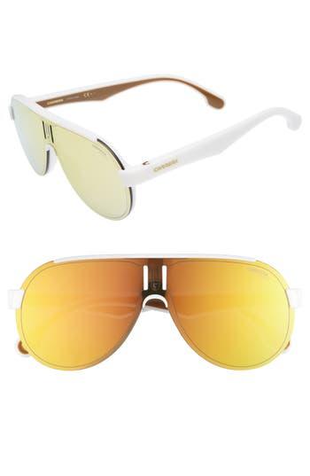 Carrera Eyewear 9m Shield Sunglasses - White/ Brown Gold
