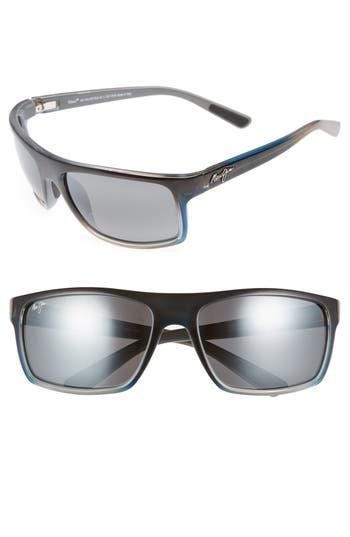 Maui Jim Byron Bay 62Mm Polarized Sunglasses - Marlin/ Neutral Grey