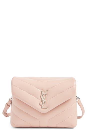 Saint Laurent Toy Loulou Calfskin Leather Crossbody Bag -