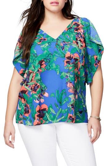 Plus Size Women's Rachel Rachel Roy Flutter Sleeve Top, Size 1X - Blue