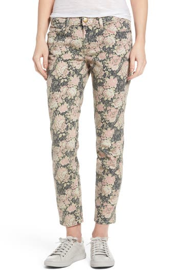 Women's Current/elliott Stiletto Floral Print Skinny Jeans