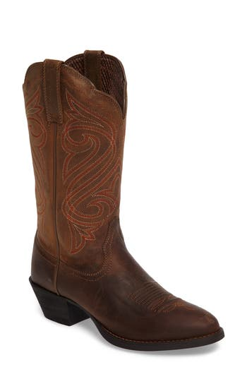 Ariat Round Up R-Toe Western Boot- Brown
