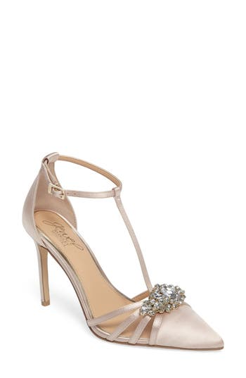 Women's Jewel Badgley Mischka Cabo Embellished Pointy Toe Pump