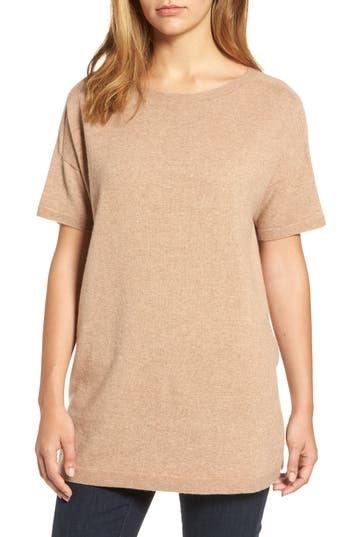 Women's Eileen Fisher Cashmere Tunic Sweater, Size XX-Small - Brown