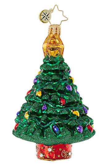 Christopher Radko Star Of The Show Christmas Tree Ornament, Size One Size - Green