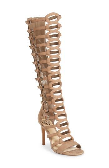 Women's Vince Camuto Chesta Tall Gladiator Sandal, Size 8.5 M - Beige