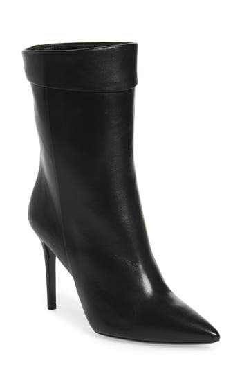 Charles David Sylvie Cuffed Pointy Toe Bootie EU - Black