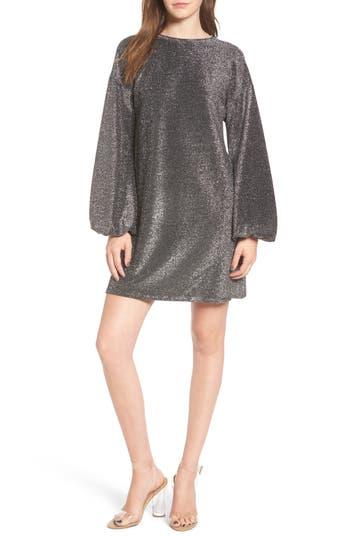 Leith Metallic Shift Dress, Metallic