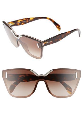 Women's Prada Gradient Shield Sunglasses - Light Brown