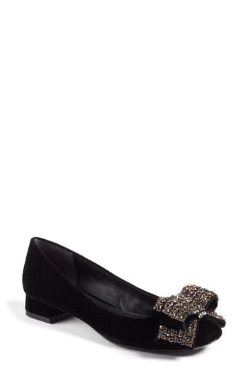 Women's Tory Burch Josephine Embellished Bow Pump