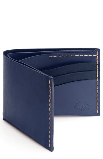Ezra Arthur No. 8 Leather Wallet - Blue