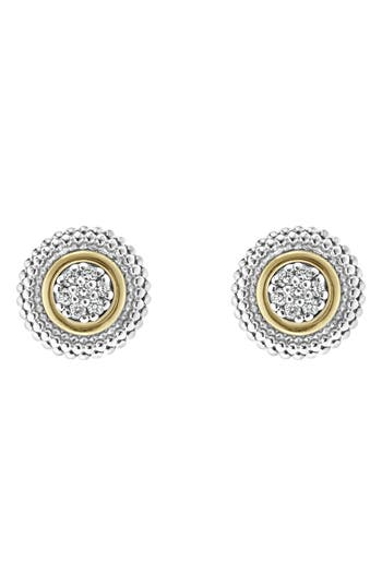 Women's Lagos Caviar Diamond Stud Earrings