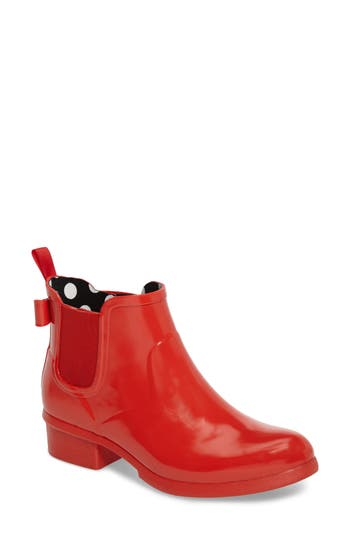 Kate Spade New York Telly Chelsea Rain Bootie, Red