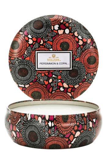 Voluspa Japonica - Persimmon & Copal 3-Wick Candle, Size One Size - Pink
