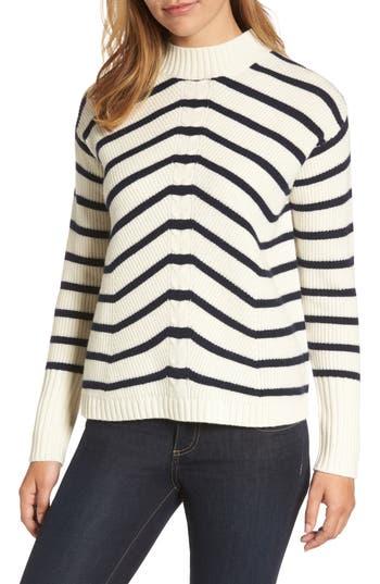 Women's Vineyard Vines Stripe Fisherman Sweater, Size Small - White