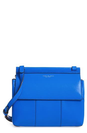 Tory Burch Block T Leather Crossbody Bag - Blue