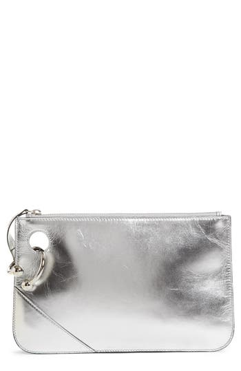 J.w.anderson Pierce Metallic Leather Clutch -
