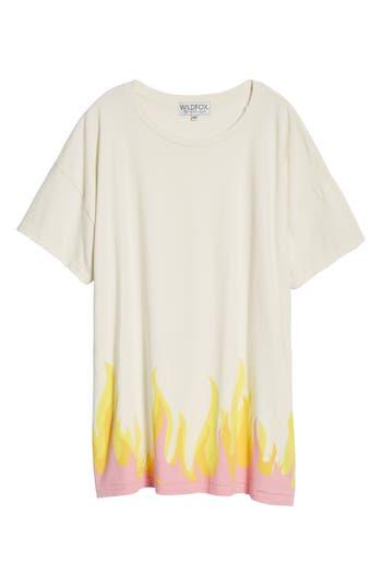 Women's Wildfox Wildfire T-Shirt Dress, Size Large - Ivory