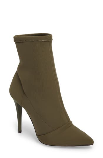 Topshop Hubba Pointy Toe Bootie - Green
