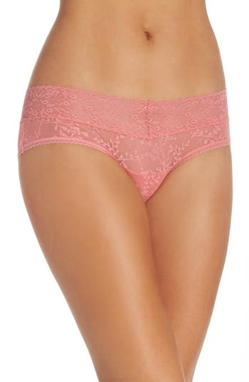 Women's Calvin Klein Hipster Panties, Size Small - Pink