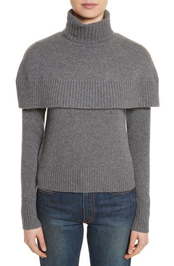 Women's Chloe Cashmere Mini Cape Turtleneck Sweater