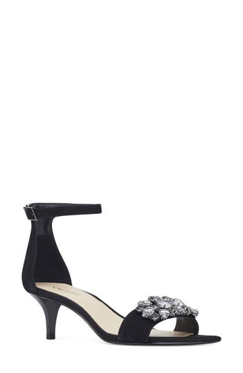 Women's Nine West Lecia Kitten Heel Sandal -  25028839-0BD