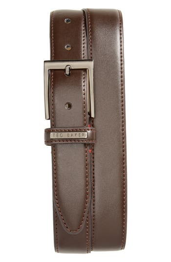 Ted Baker London Lizwiz Leather Belt, Chocolate