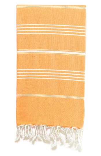 Linum Home Textiles 'Lucky' Turkish Pestemal Towel, Size One Size - Orange