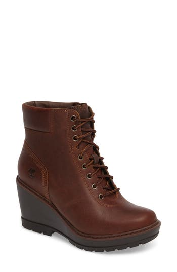 Women's Timberland Kellis Wedge Lace-Up Boot, Size 6 M - Brown
