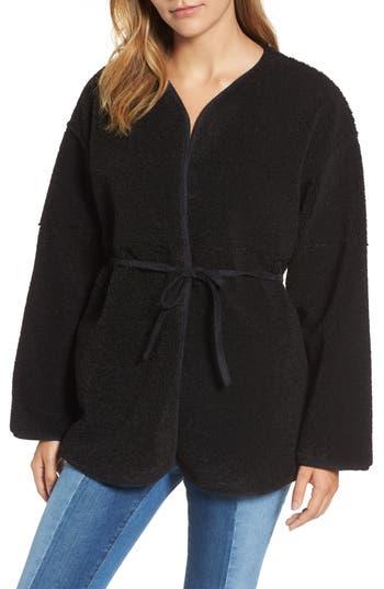 Women's Velvet By Graham & Spencer Reversible Faux Shearling Jacket, Size Medium - Black