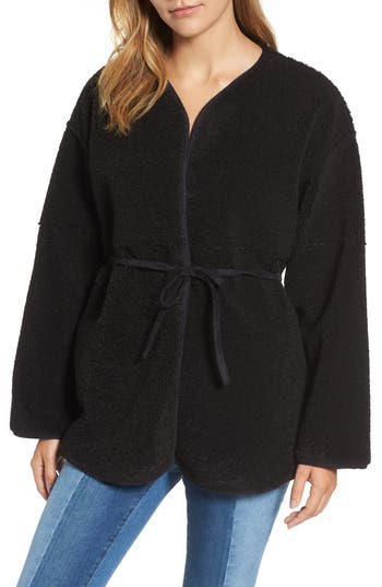 Women's Velvet By Graham & Spencer Reversible Faux Shearling Jacket, Size X-Small - Black