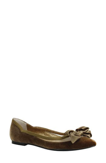 Women's J. Renee Allitson Bow Flat, Size 11 D - Brown