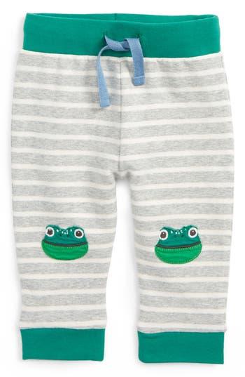Toddler Boy's Mini Boden Fun Frog Applique Pants, Size 6-12M - Grey