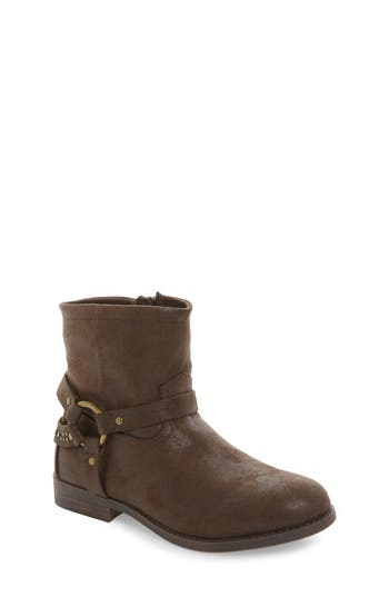 Girl's Frye Harness Studded Strappy Boot, Size 4 M - Brown