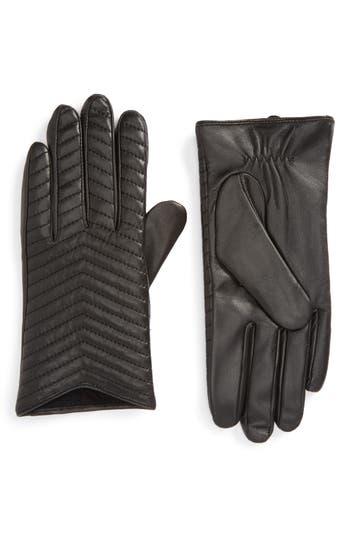 Mackage Cano Lambskin Leather Tech Gloves, Black