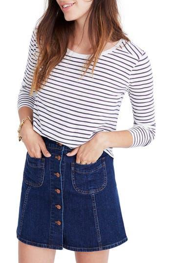 Women's Madewell Whisper Cotton Stripe Long Sleeve Tee
