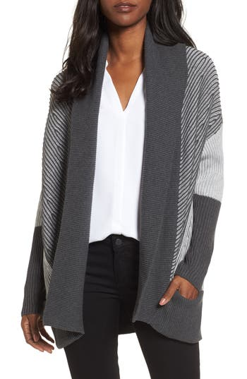 Women's Chaus Colorblock Open Front Cardigan