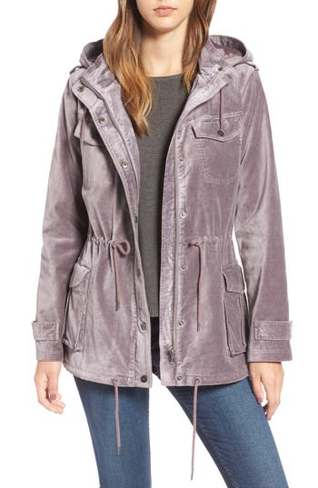 Women's Bnci Cotton Velveteen Hooded Anorak Jacket